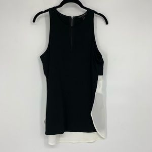 Banana republic Sleeveless Cutaway Mixed Tank Top